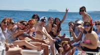 hen party boat marbella